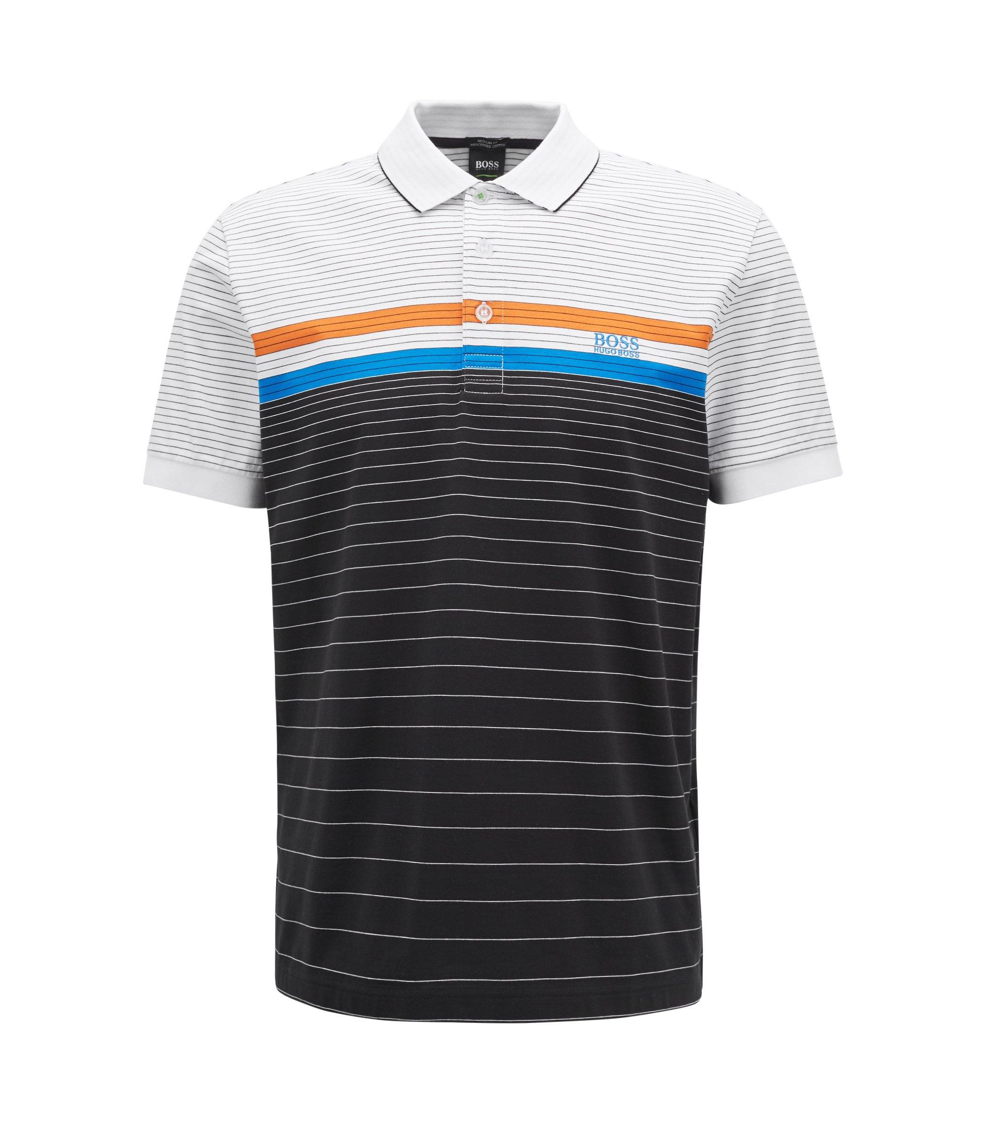 Regular-fit cotton polo shirt with race car motif BOSS