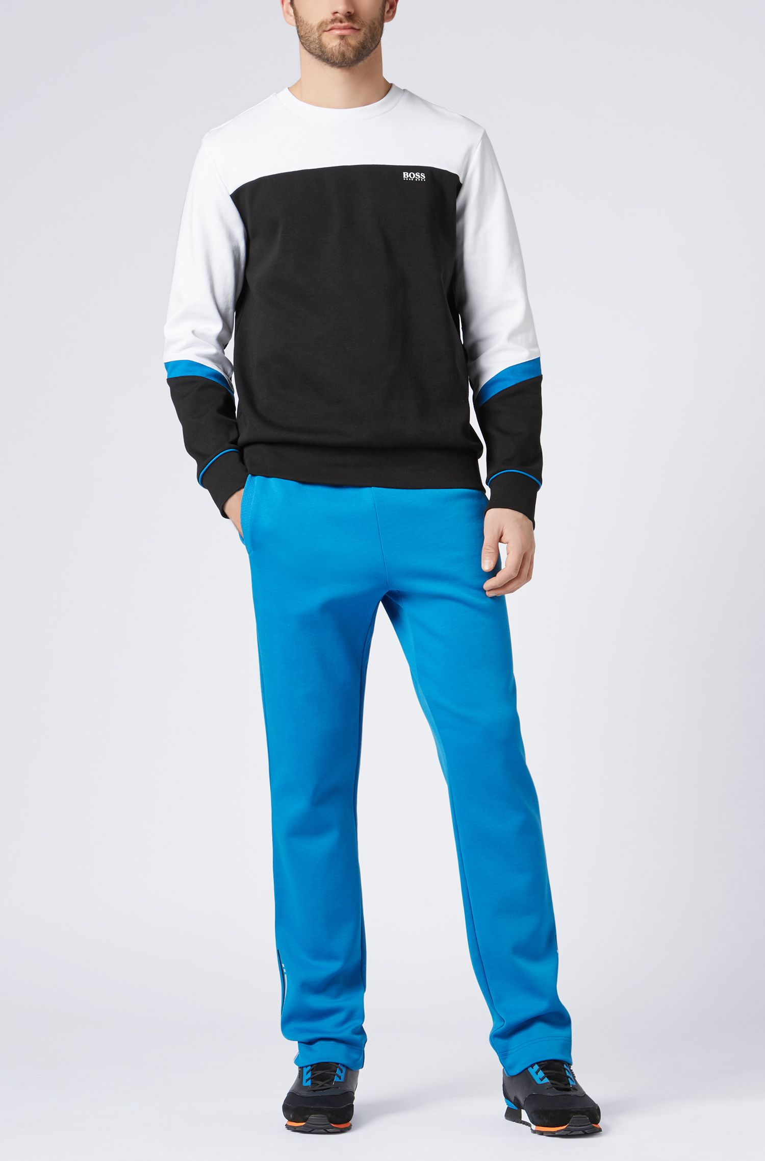 Hugo Boss - Crew-neck sweater with asymmetric colour-blocking - 2