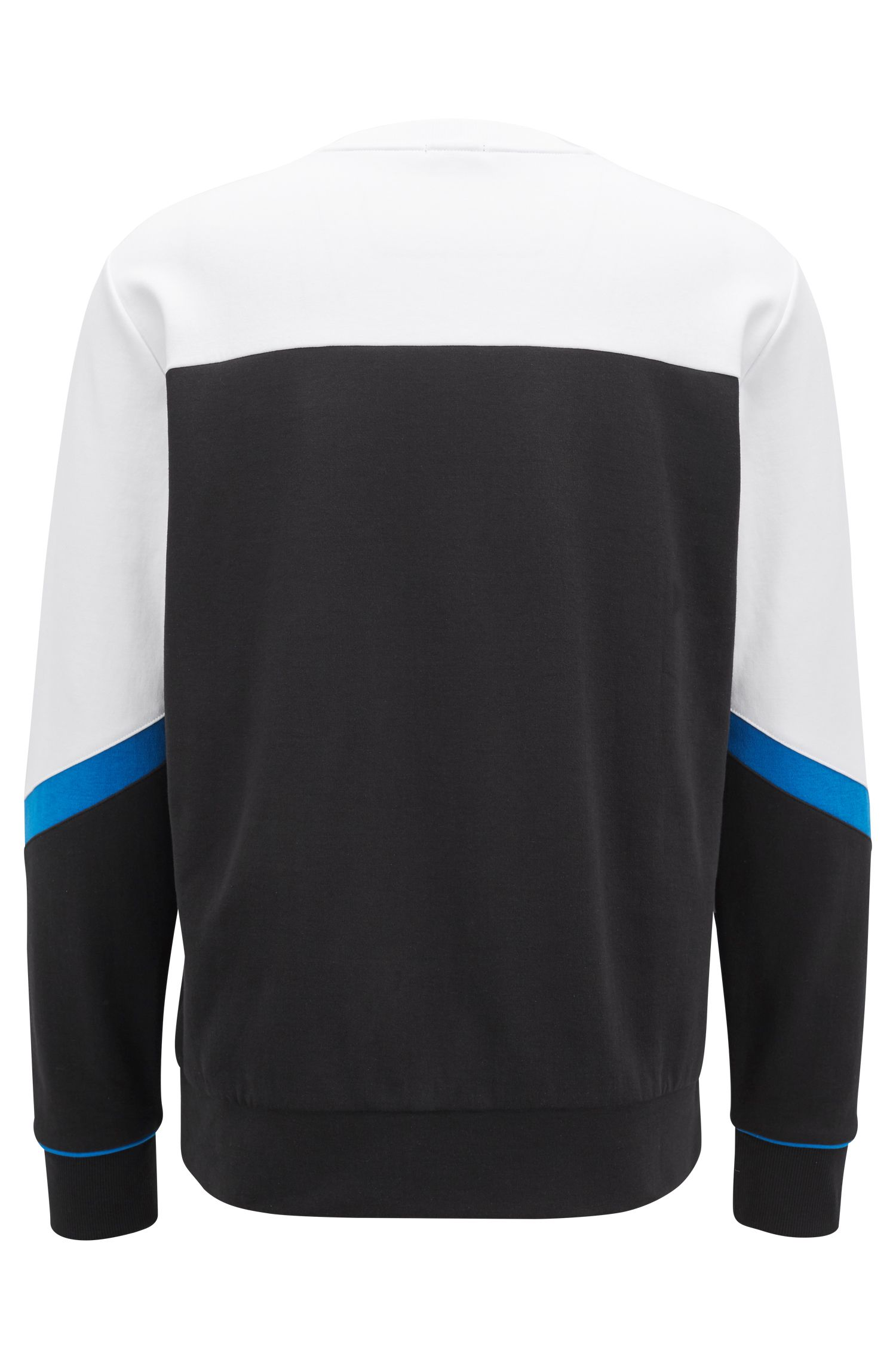 Hugo Boss - Crew-neck sweater with asymmetric colour-blocking - 3