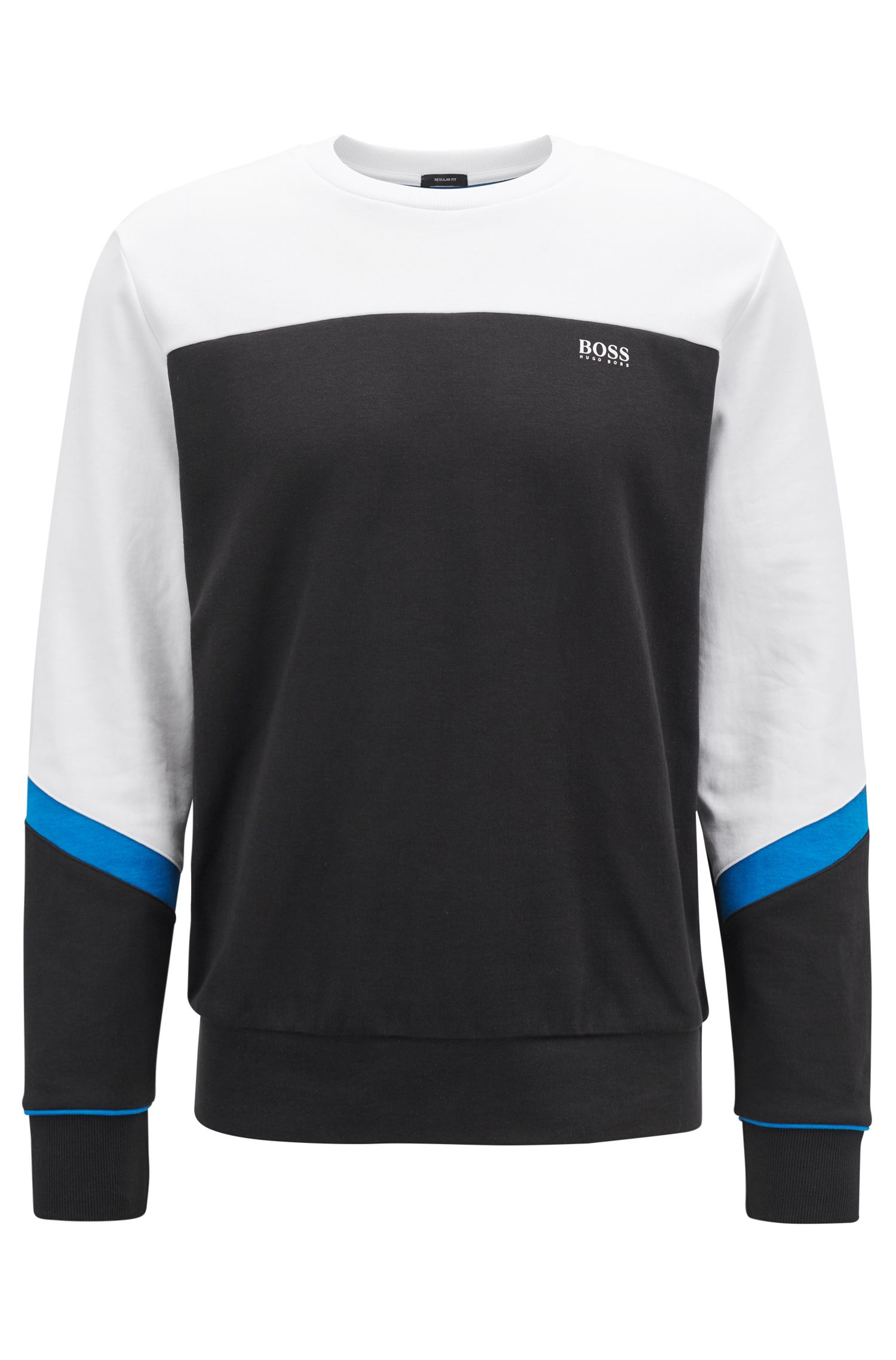 Hugo Boss - Crew-neck sweater with asymmetric colour-blocking - 1