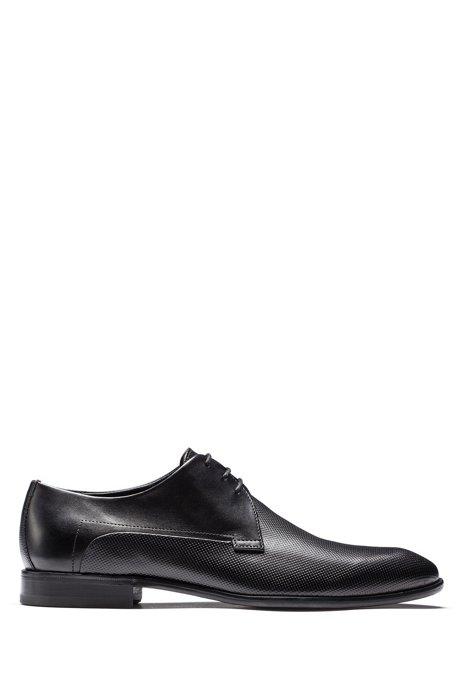 HUGO - Chaussures derby en cuir - Noir FYhMP