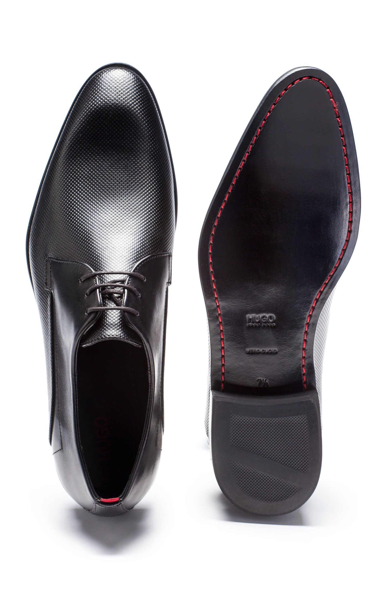 Derby shoes in printed calf leather