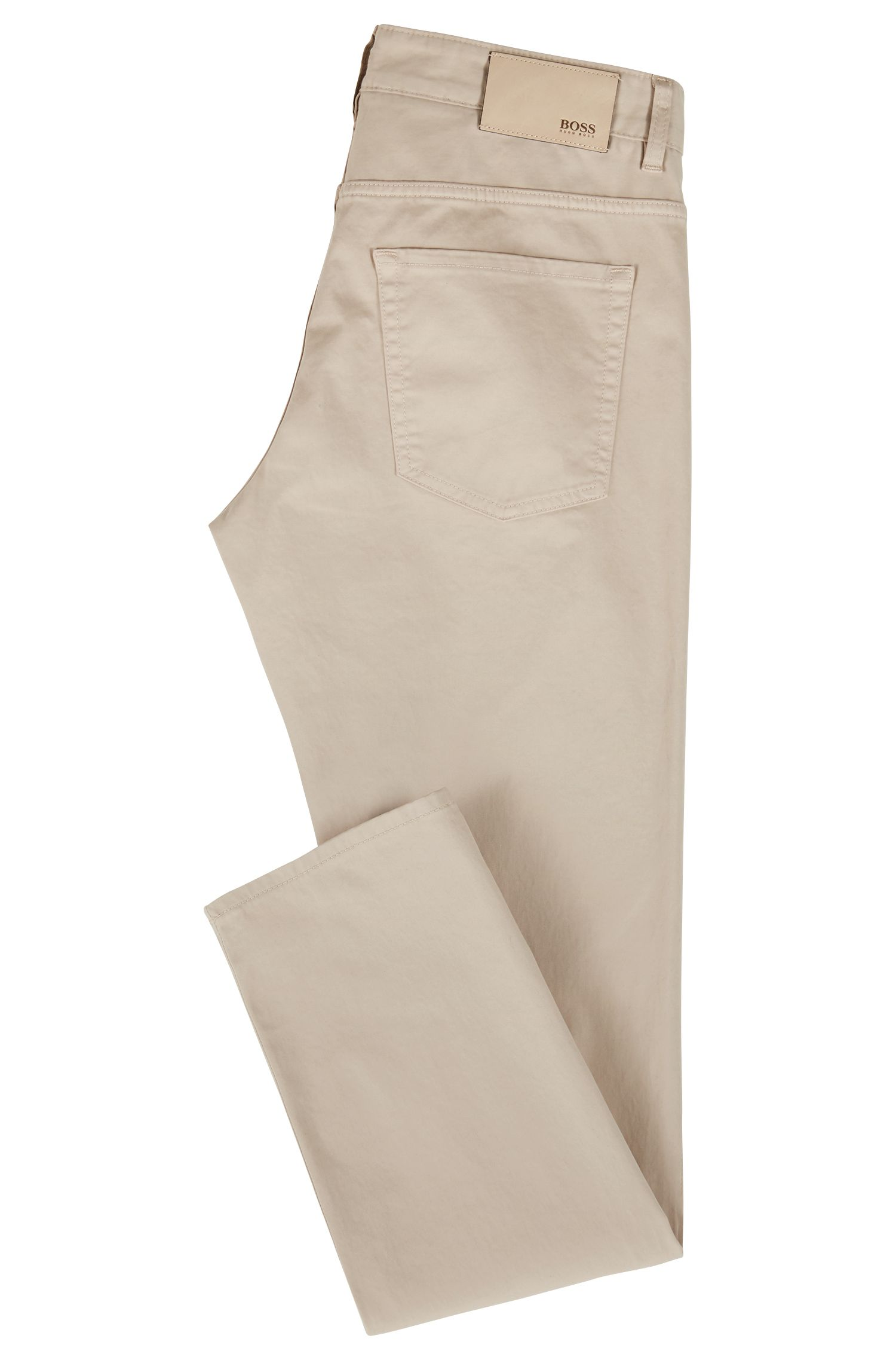 Slim-fit jeans in diamond-brushed stretch satin