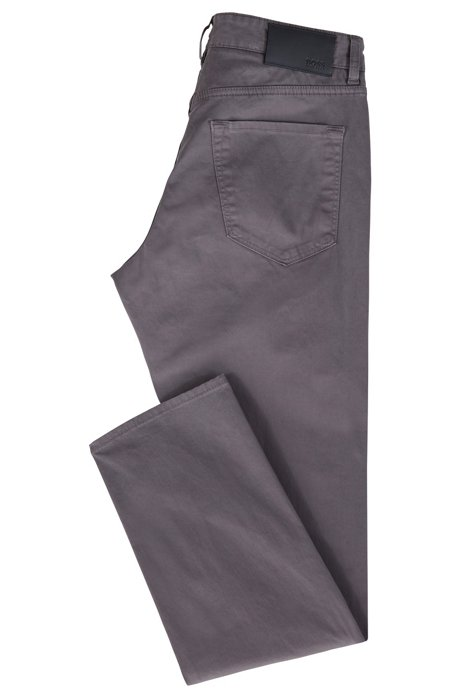 Regular-fit jeans in diamond-brushed satin stretch denim BOSS hjWcksG