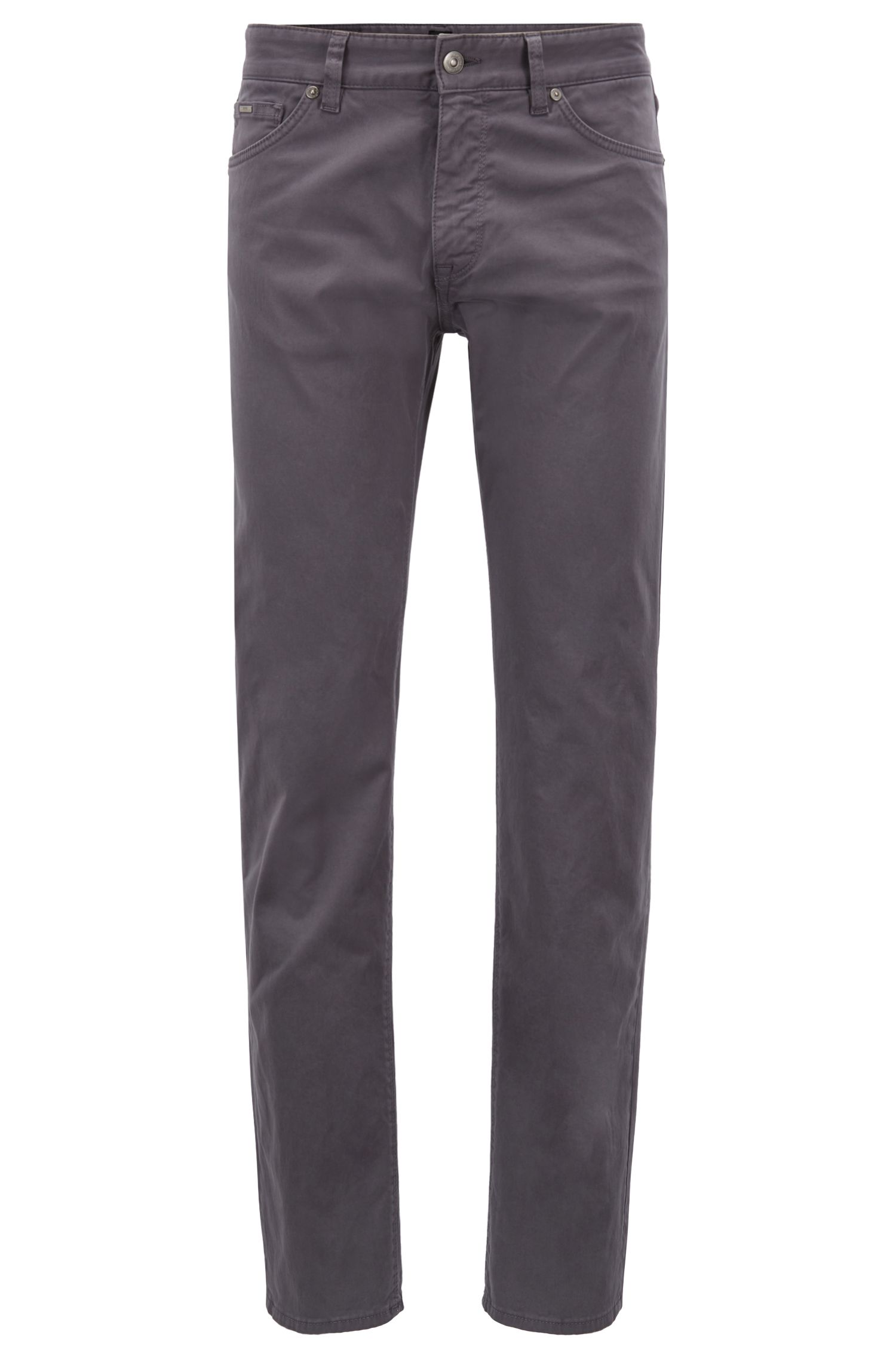 Jean Regular Fit en denim stretch effet satin brossé Diamond Brushed, Gris