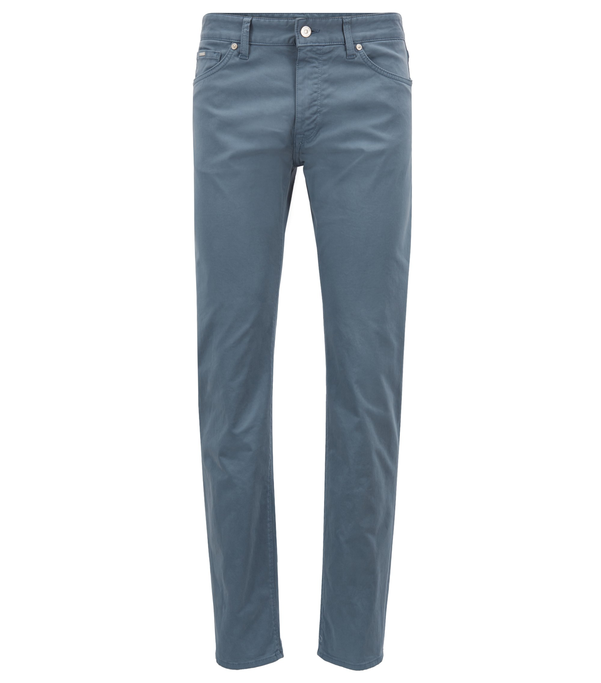 Jean Regular Fit en denim stretch effet satin brossé Diamond Brushed, Bleu