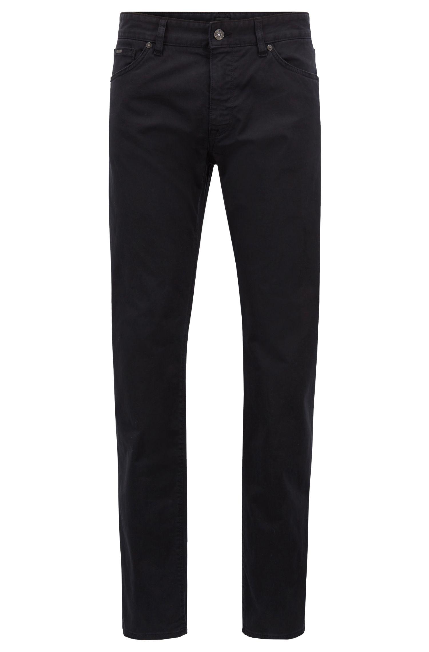 Jeans regular fit in denim elasticizzato satinato con finitura spazzolata effetto diamante, Blu