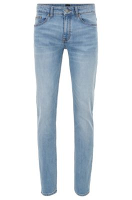 Slim Fit Jeans In Distressed Comfort Stretch Denim by Boss