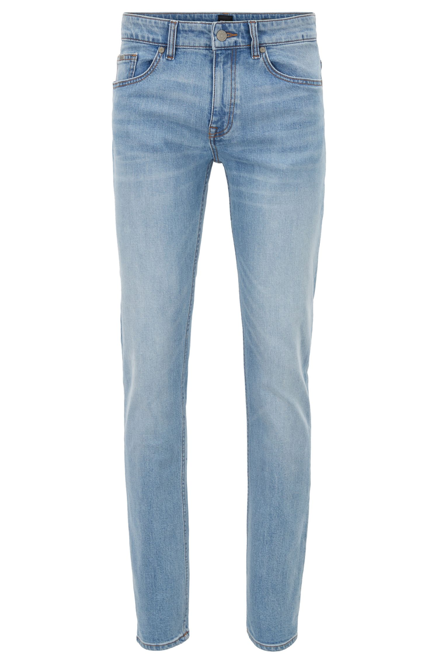 Slim-fit jeans van comfortabel stretchdenim met used-effect