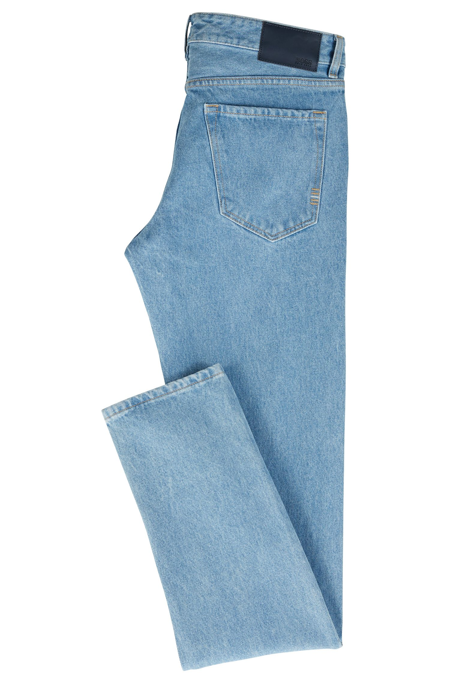 Regular-fit jeans in rigid denim with turn-ups