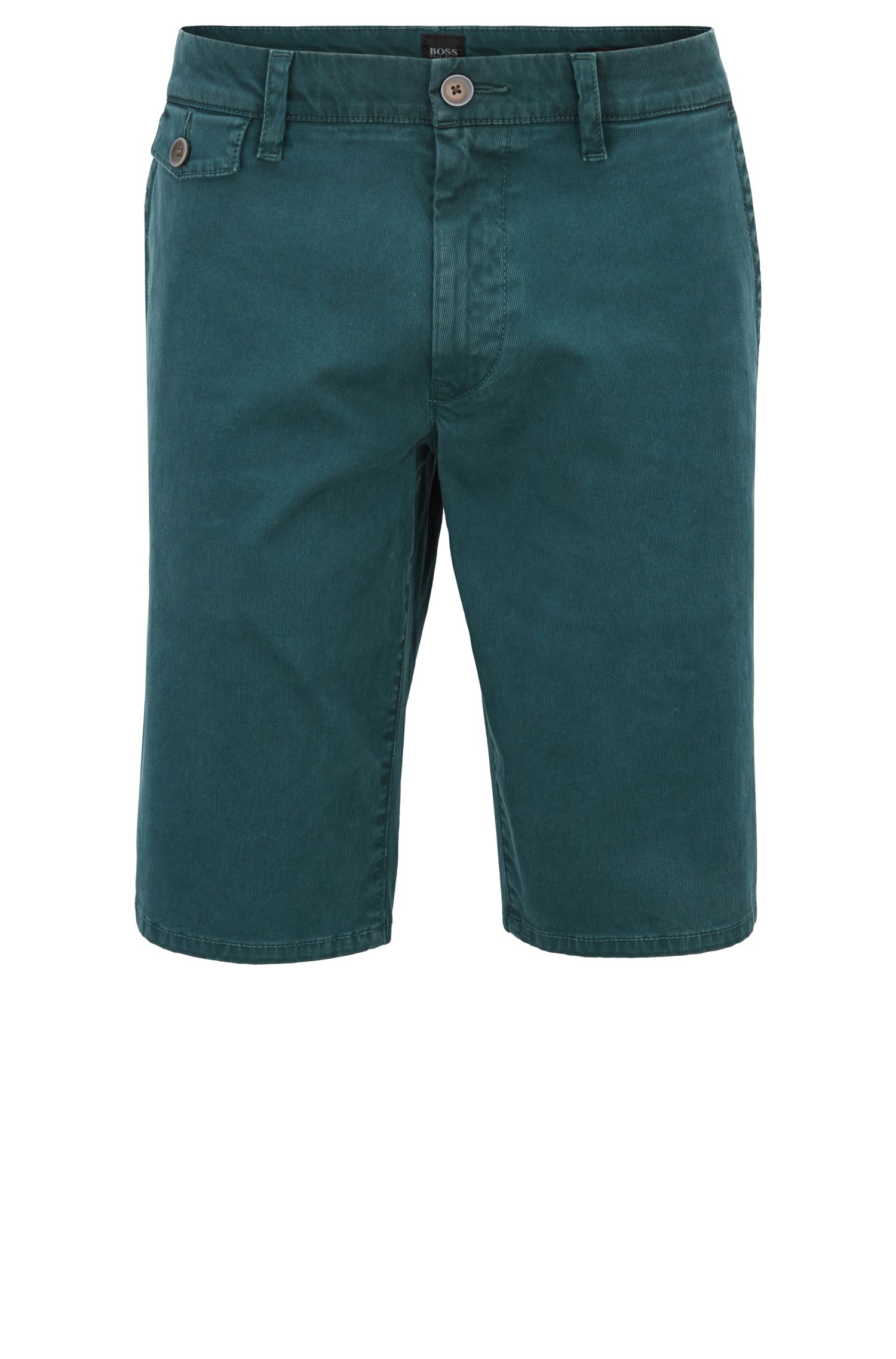 Regular-fit shorts in cotton Bedford corduroy