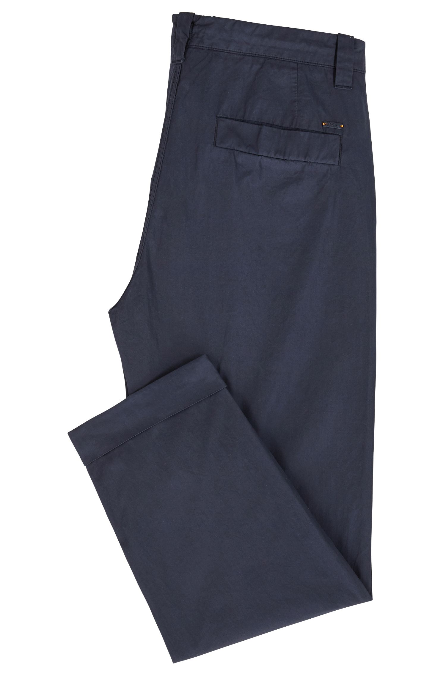 Relaxed-fit cropped trousers in overdyed Italian cotton poplin