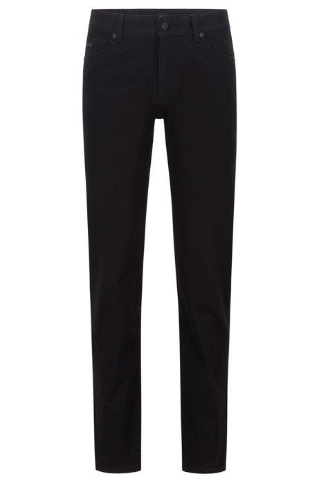 Regular-fit jeans van zwart stretchdenim, Zwart