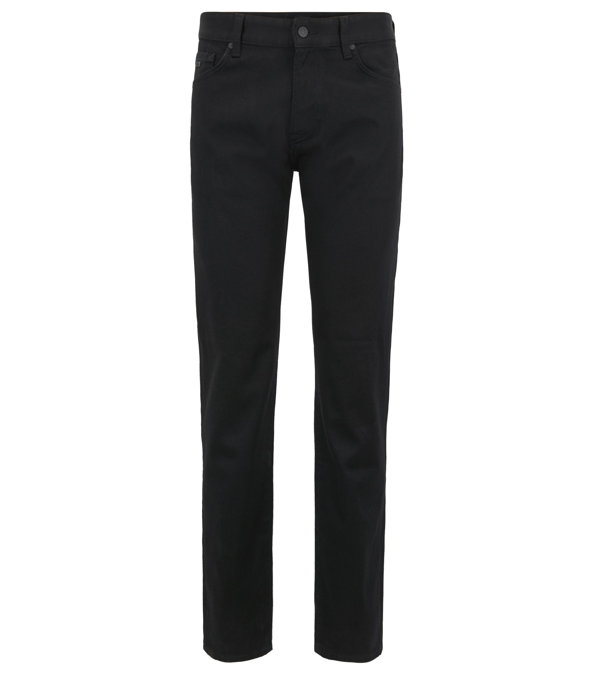 Jean Regular Fit en confortable denim stretch noir, Noir