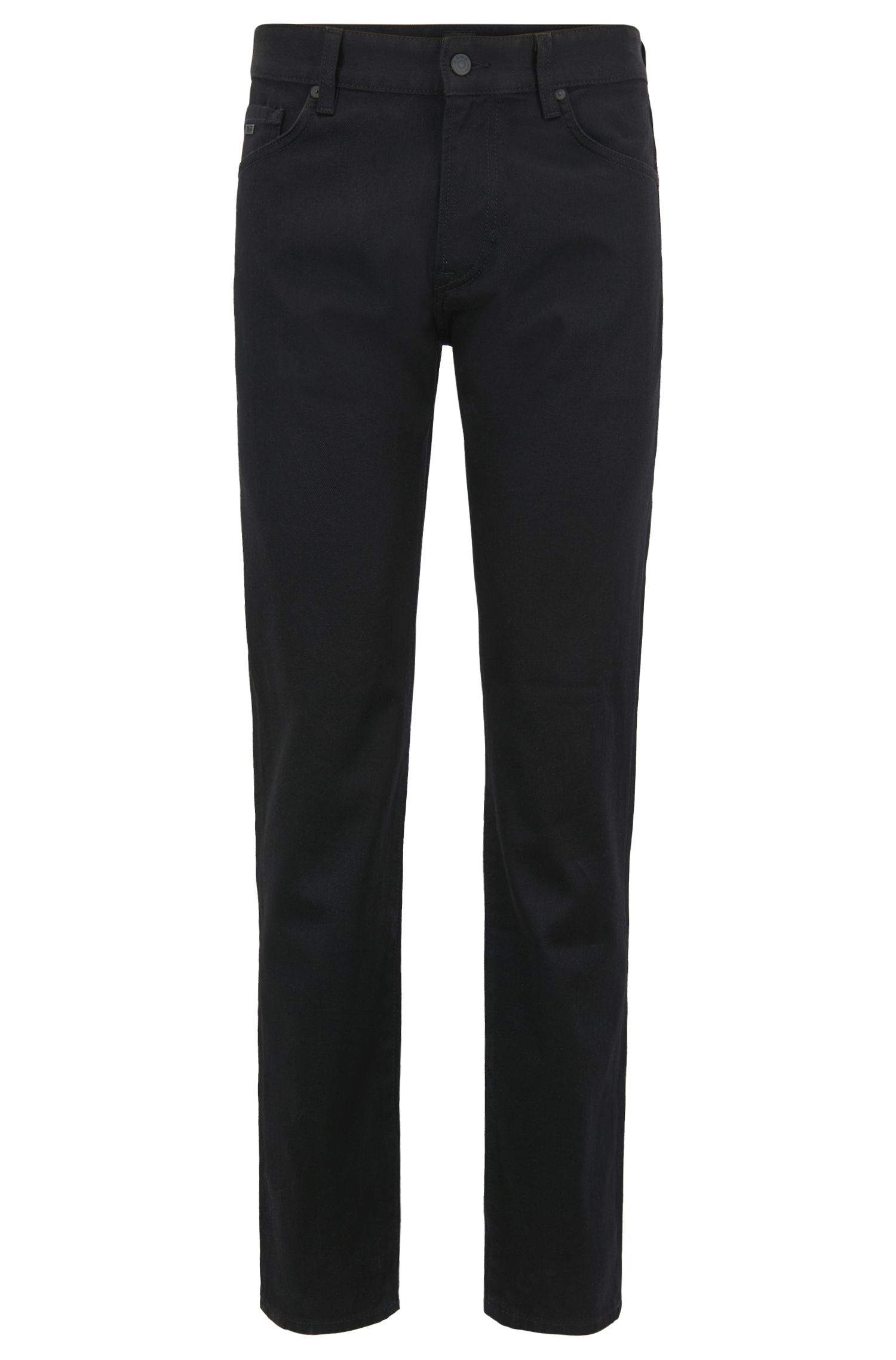 Jean Regular Fit en confortable denim stretch noir