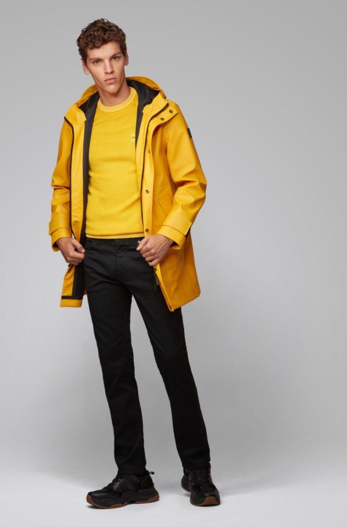 Jeans regular fit in denim elasticizzato nero intenso