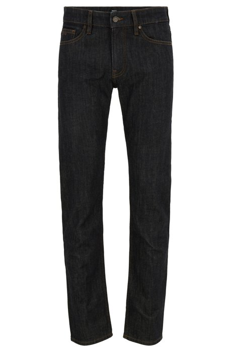 Slim-fit jeans van rinse-washed stretchdenim, Donkerblauw