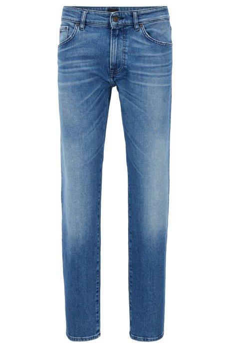 HUGO BOSS Jean à jambes droites en denim stretch stone-washed Y0iC6OYCyd