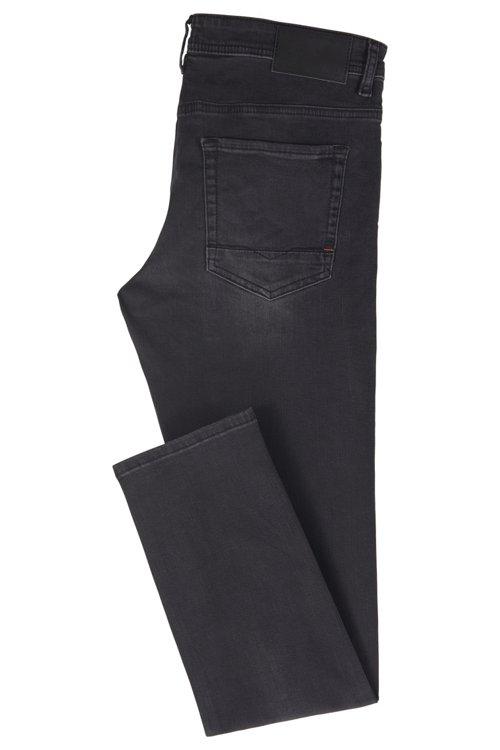 Hugo Boss - Tapered-Fit Jeans aus gewaschenem Super-Stretch-Denim - 4