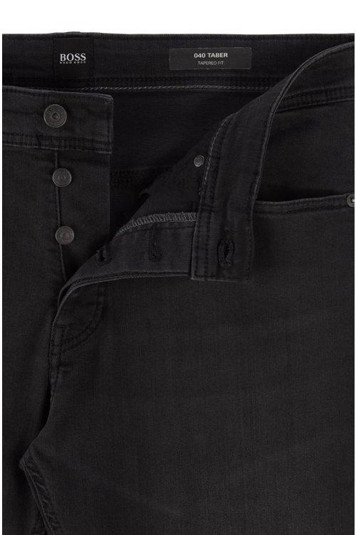 Hugo Boss - Tapered-Fit Jeans aus gewaschenem Super-Stretch-Denim - 5