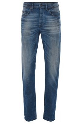 Relaxed-fit jeans in stretch cross-weave denim BOSS h4Xe8vo