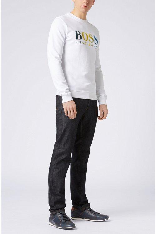 Hugo Boss - Regular-fit jeans in dark-blue washed stretch denim - 2