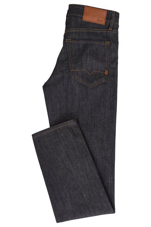Hugo Boss - Regular-fit jeans in dark-blue washed stretch denim - 3