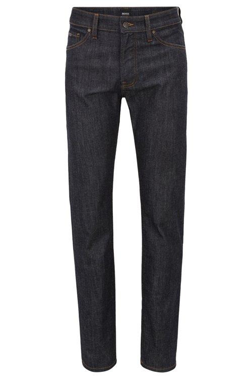 Hugo Boss - Regular-fit jeans in dark-blue washed stretch denim - 1