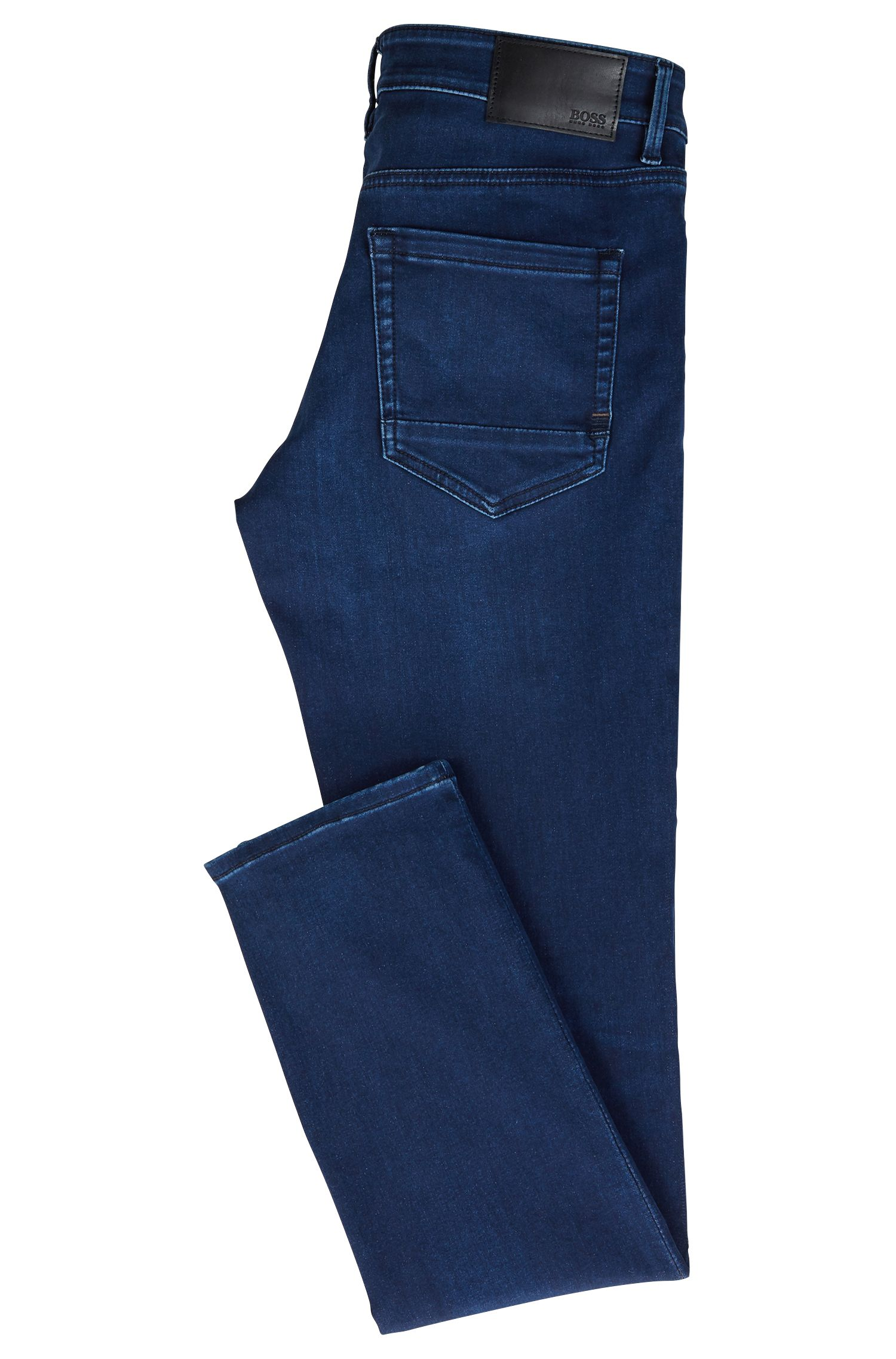 Skinny-fit jeans in super-stretch satin denim, Dark Blue