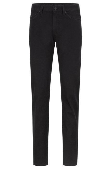 Slim-Fit Jeans aus komfortablem Stretch-Denim, Schwarz