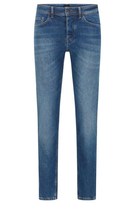 Tapered-Fit Jeans aus komfortablem Stretch-Denim, Dunkelblau