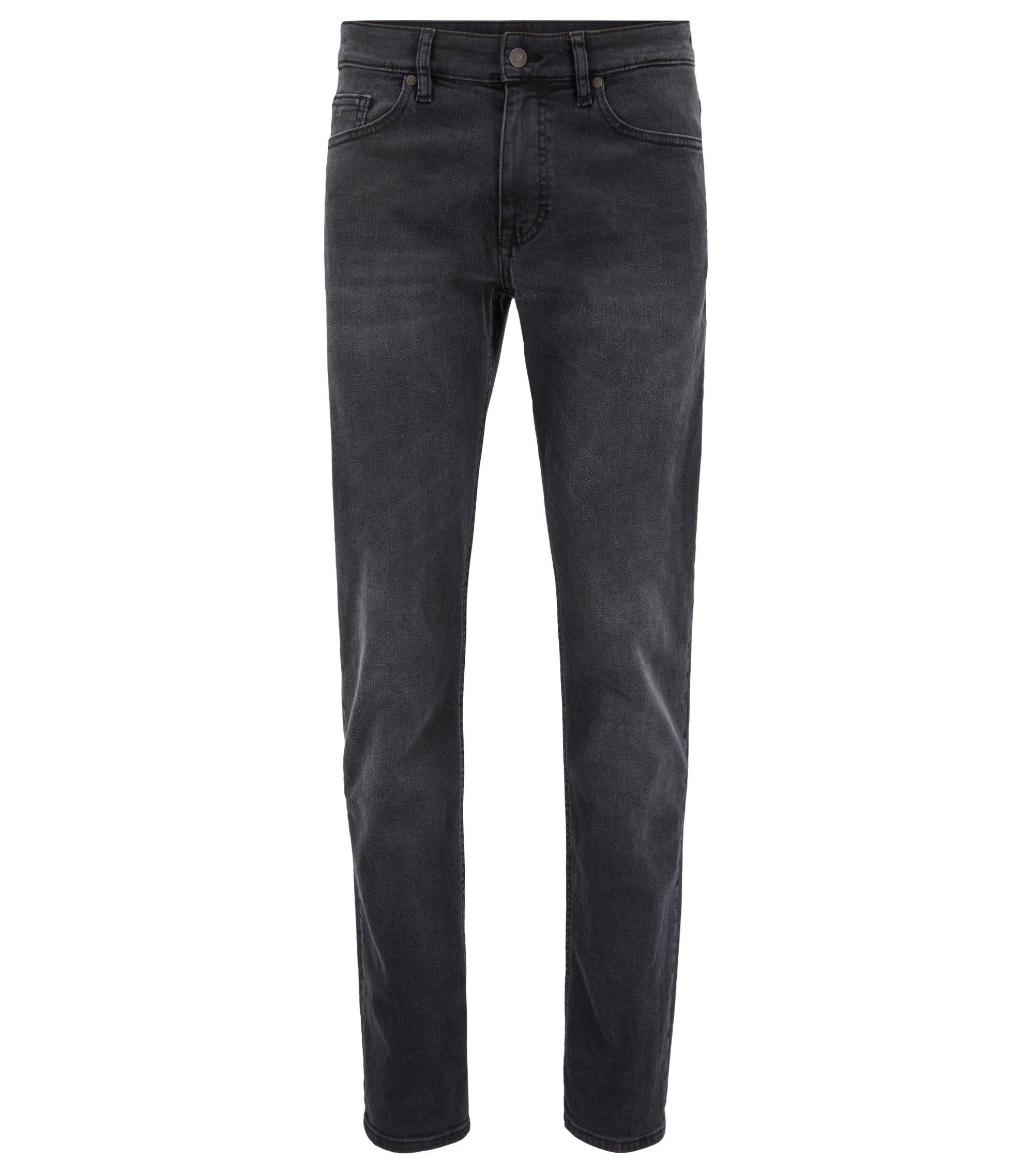 Slim-fit jeans in grey super-stretch denim, Black
