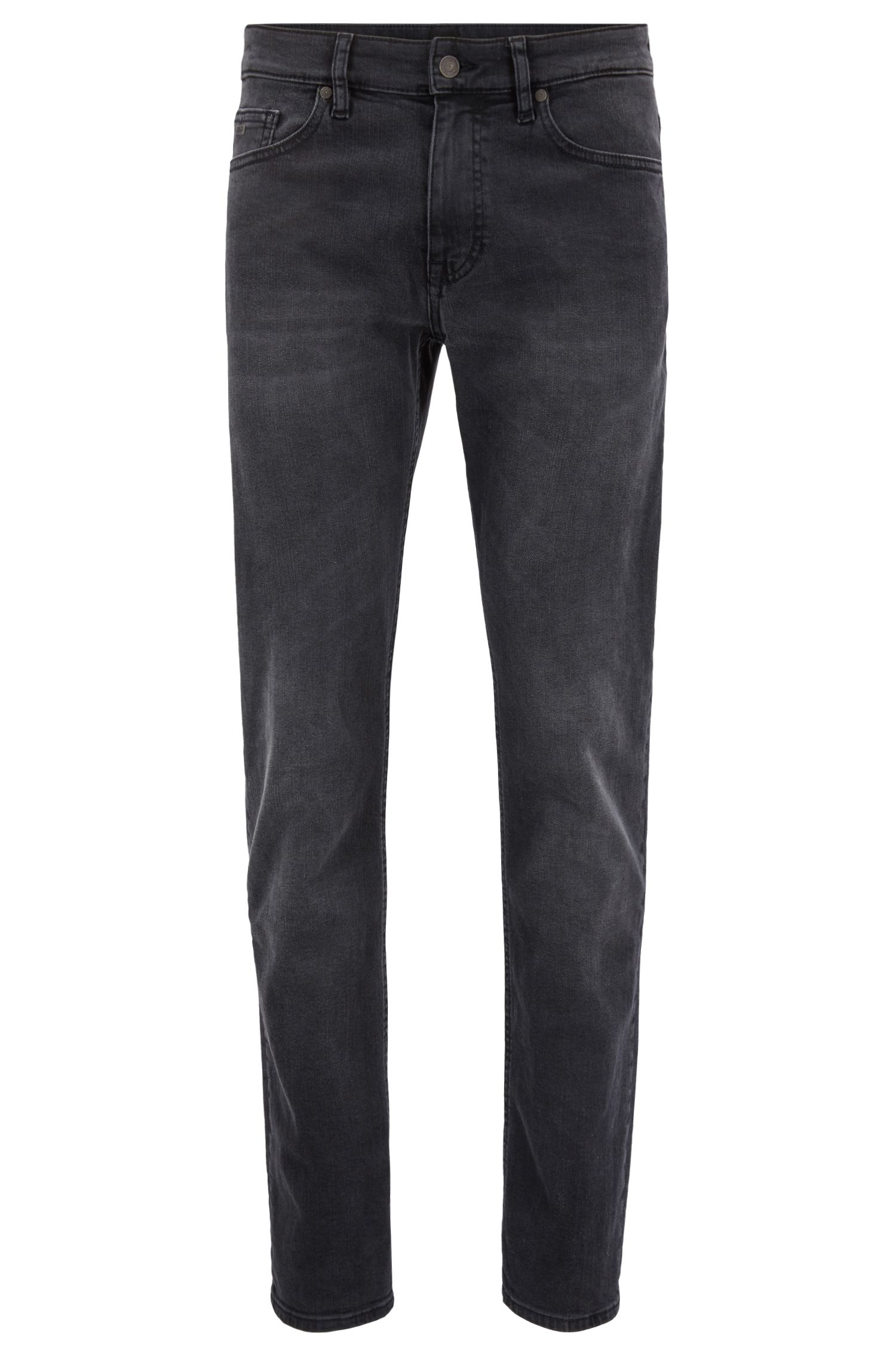 Slim-fit jeans van grijs super-stretchdenim