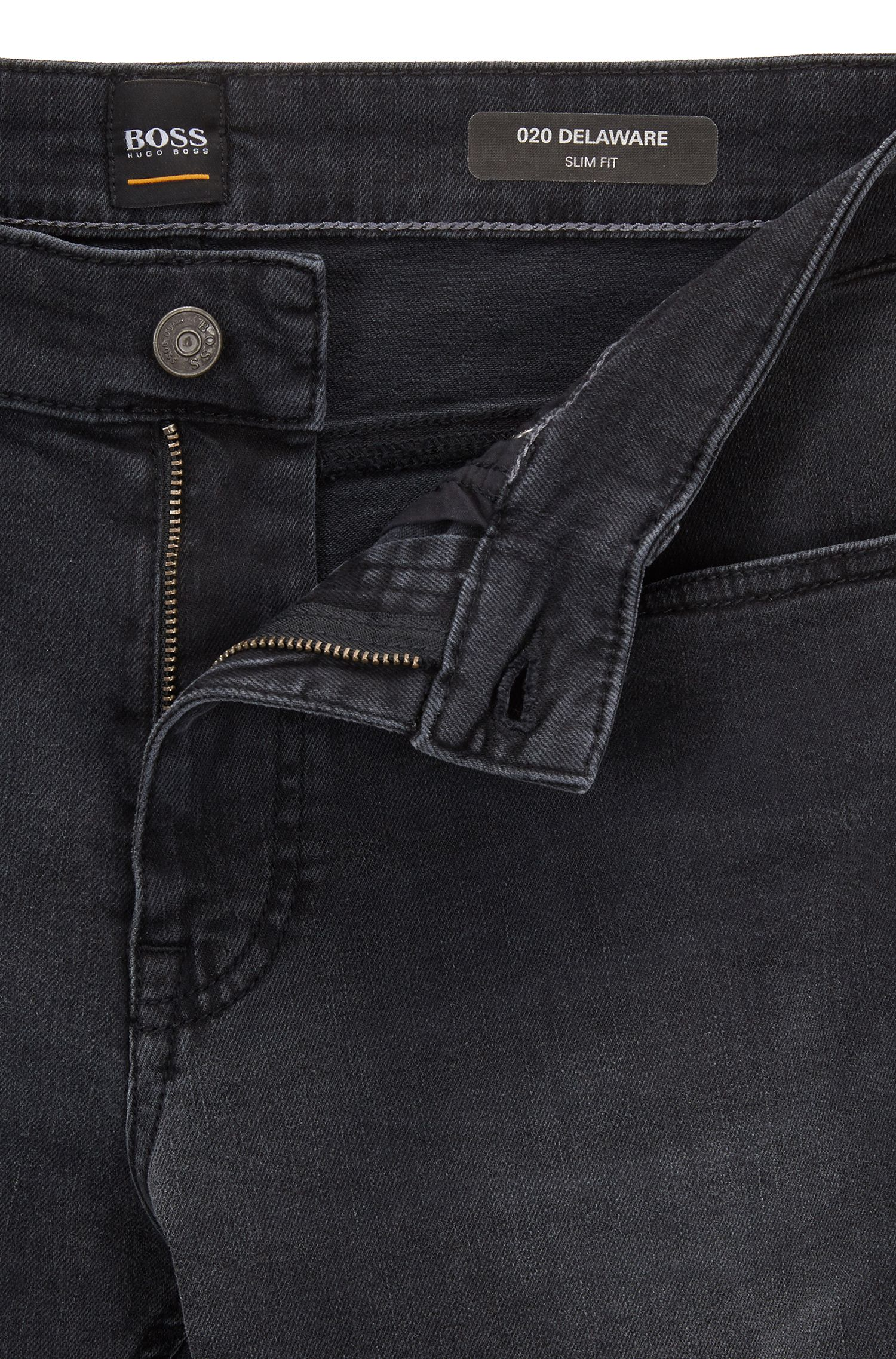 Slim-fit jeans in grey super-stretch denim