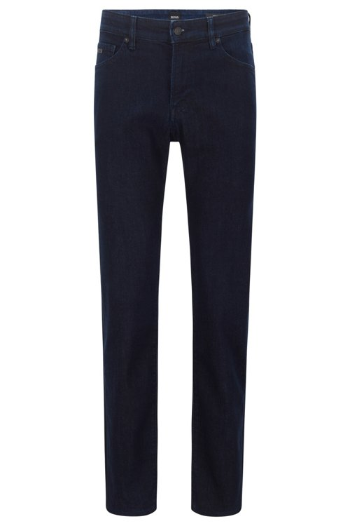 Hugo Boss - Regular-fit jeans in red-cast comfort-stretch denim - 1
