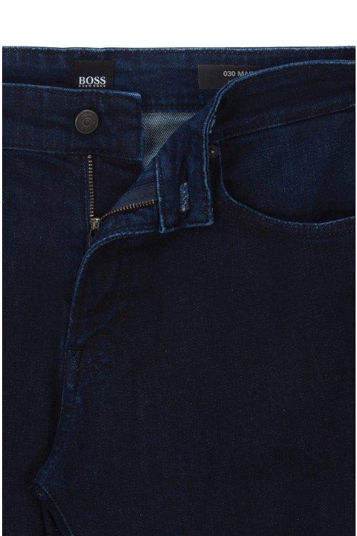 Hugo Boss - Regular-fit jeans in red-cast comfort-stretch denim - 4