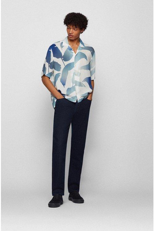 Hugo Boss - Regular-fit jeans in red-cast comfort-stretch denim - 2