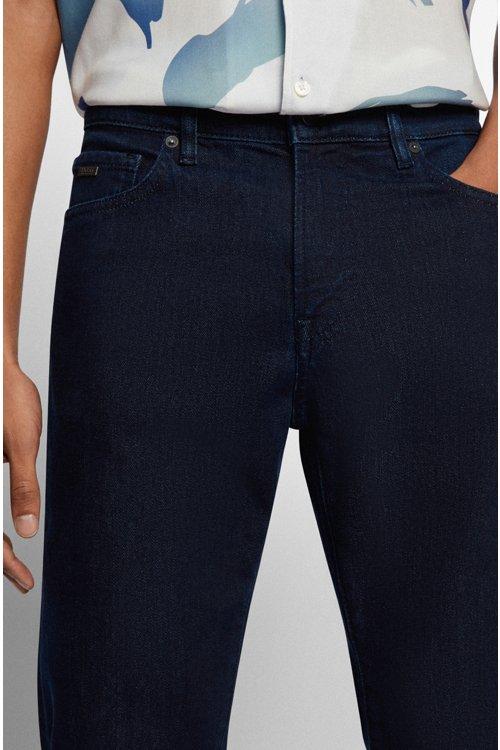 Hugo Boss - Regular-fit jeans in red-cast comfort-stretch denim - 3