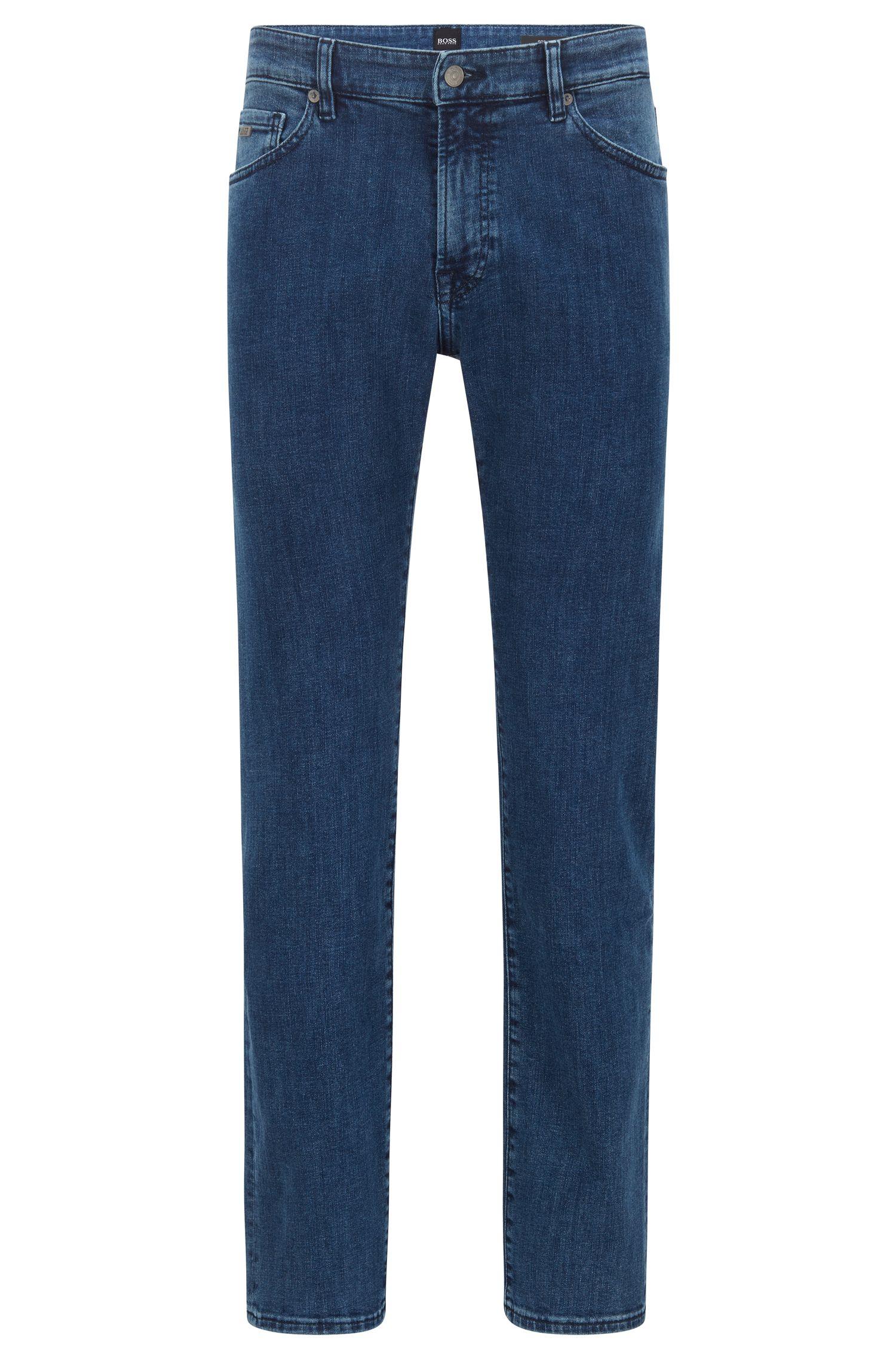 Hugo Boss - Regular-fit jeans in washed super-stretch denim - 1