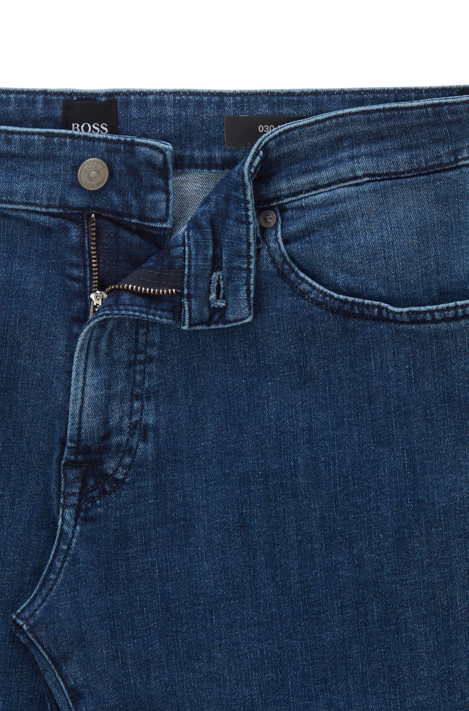 Hugo Boss - Regular-fit jeans in washed super-stretch denim - 5