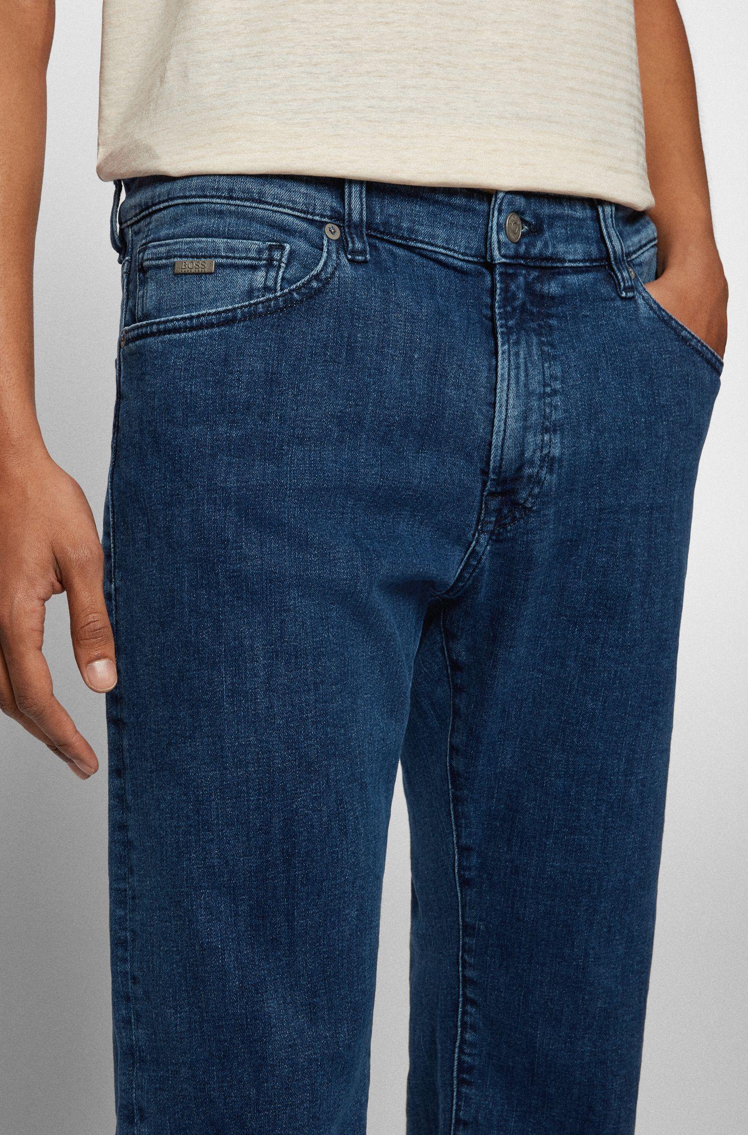 Hugo Boss - Regular-fit jeans in washed super-stretch denim - 3