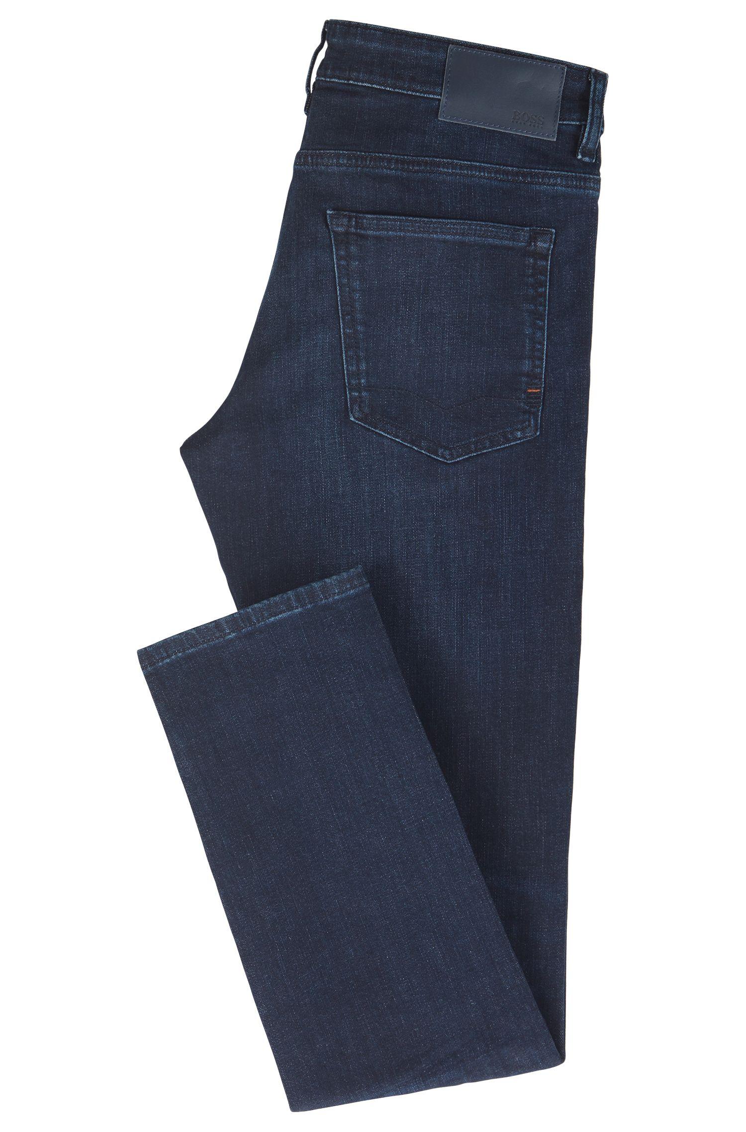 Slim-Fit Jeans aus Super-Stretch-Denim, Dunkelblau