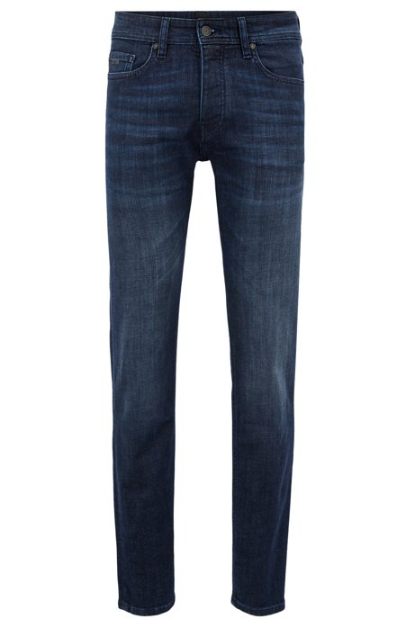 Cheap Buy Authentic Free Shipping Original Tapered-fit jeans in dark-blue used stretch denim BOSS Hurry Up Pick A Best For Sale Affordable V6FAho