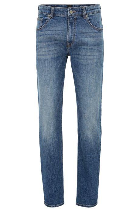 Regular-fit jeans in bright-blue stretch denim BOSS LBA1d2Ddr2