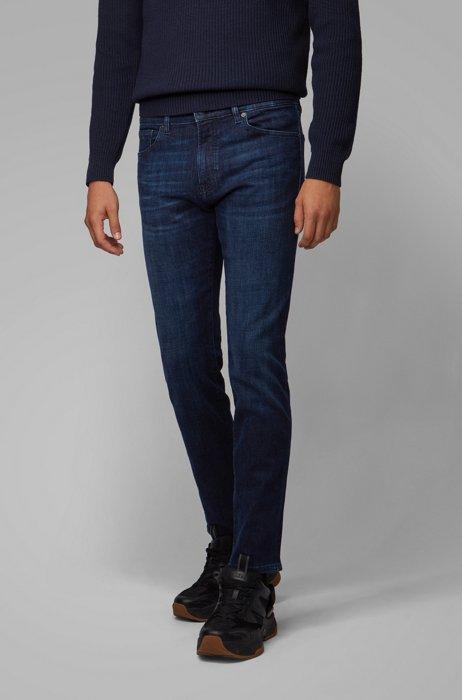 Regular-fit jeans in dark-blue denim, Dark Blue