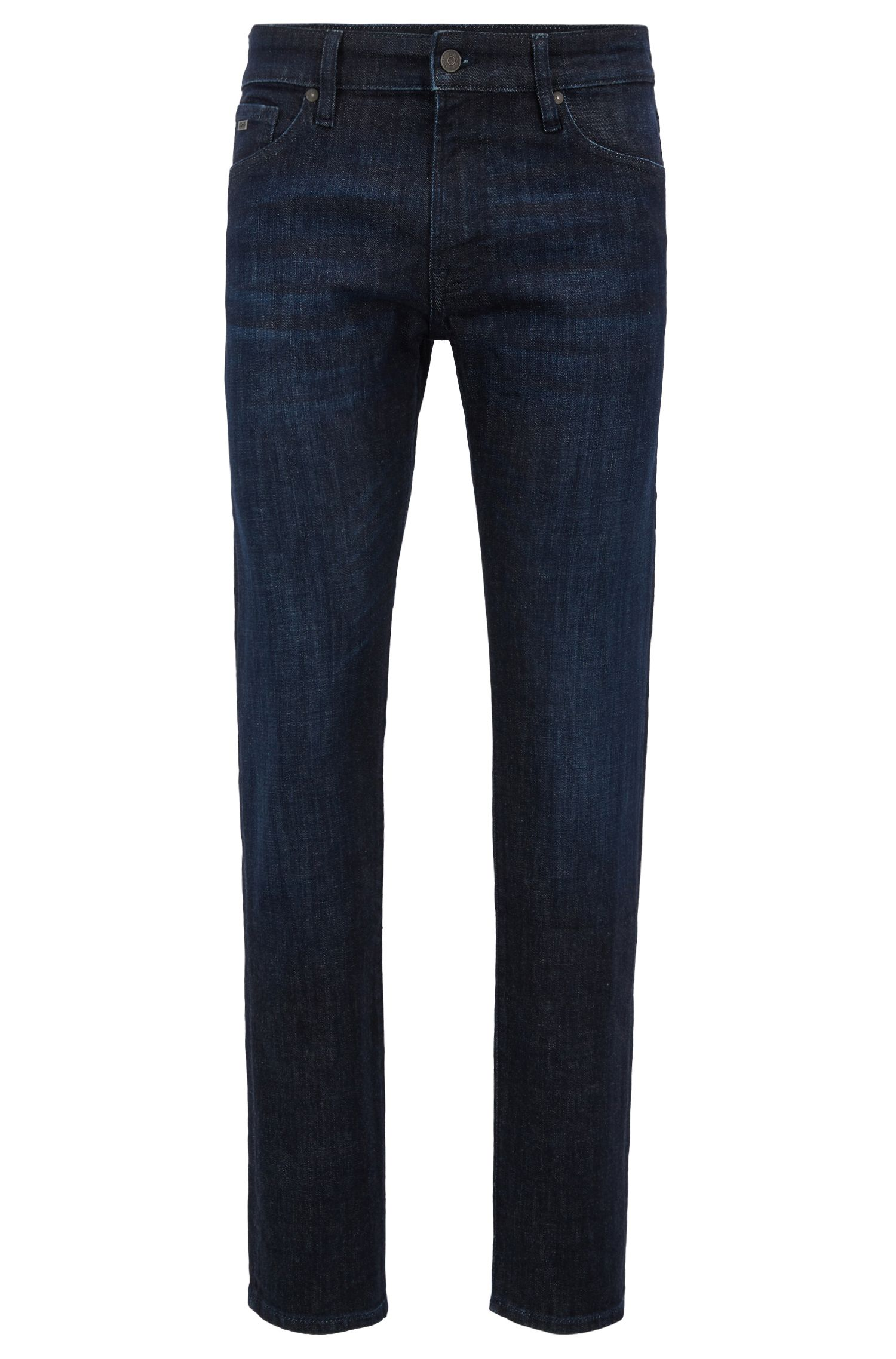 Regular-fit jeans in selvedge stretch denim