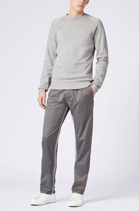 Relaxed-fit trousers in stretch cotton with riptape detailing BOSS axbPhUhkf