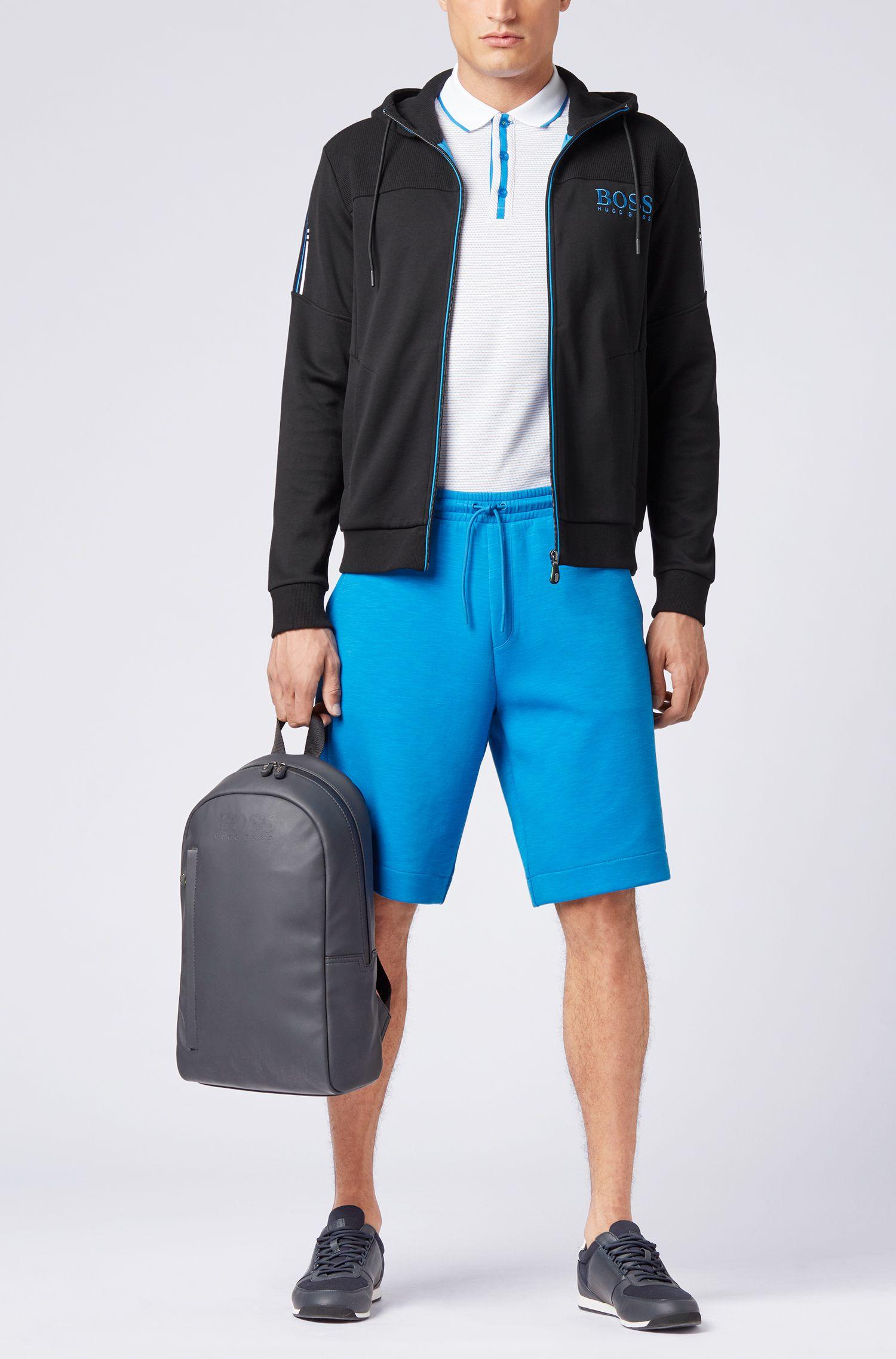 Hugo Boss - Stretch-cotton polo shirt with micro-dot jacquard - 2
