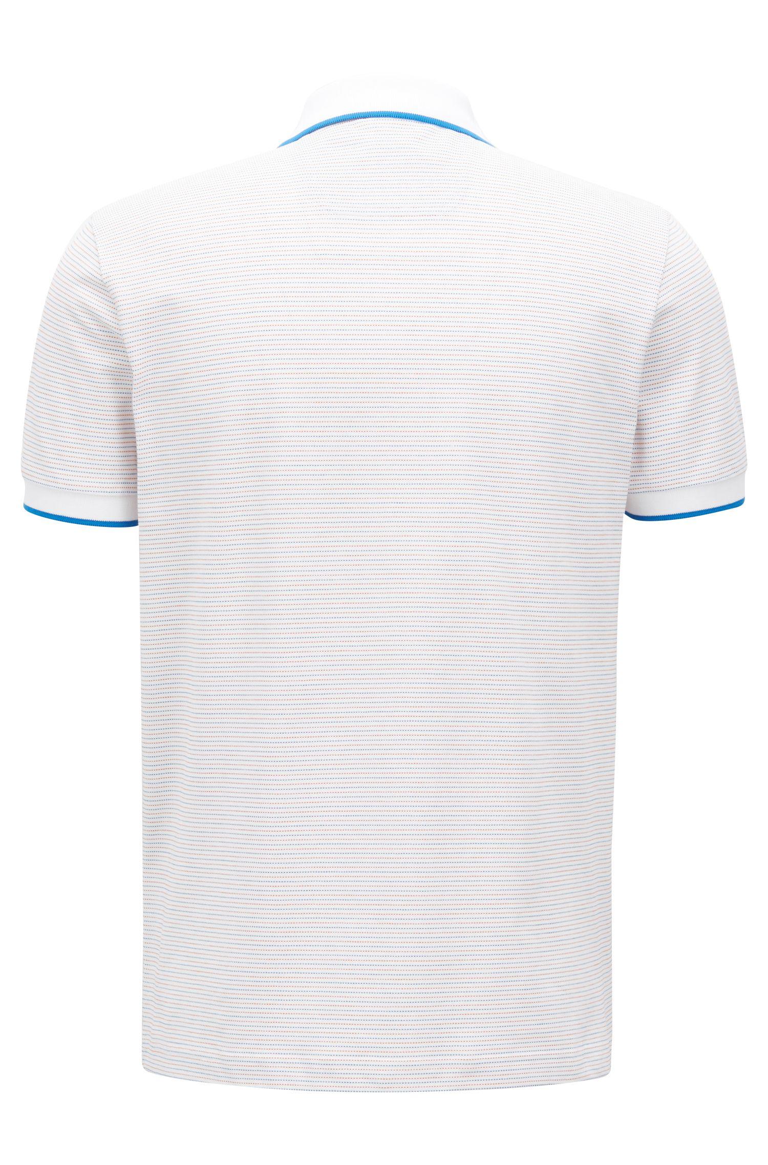 Hugo Boss - Stretch-cotton polo shirt with micro-dot jacquard - 3