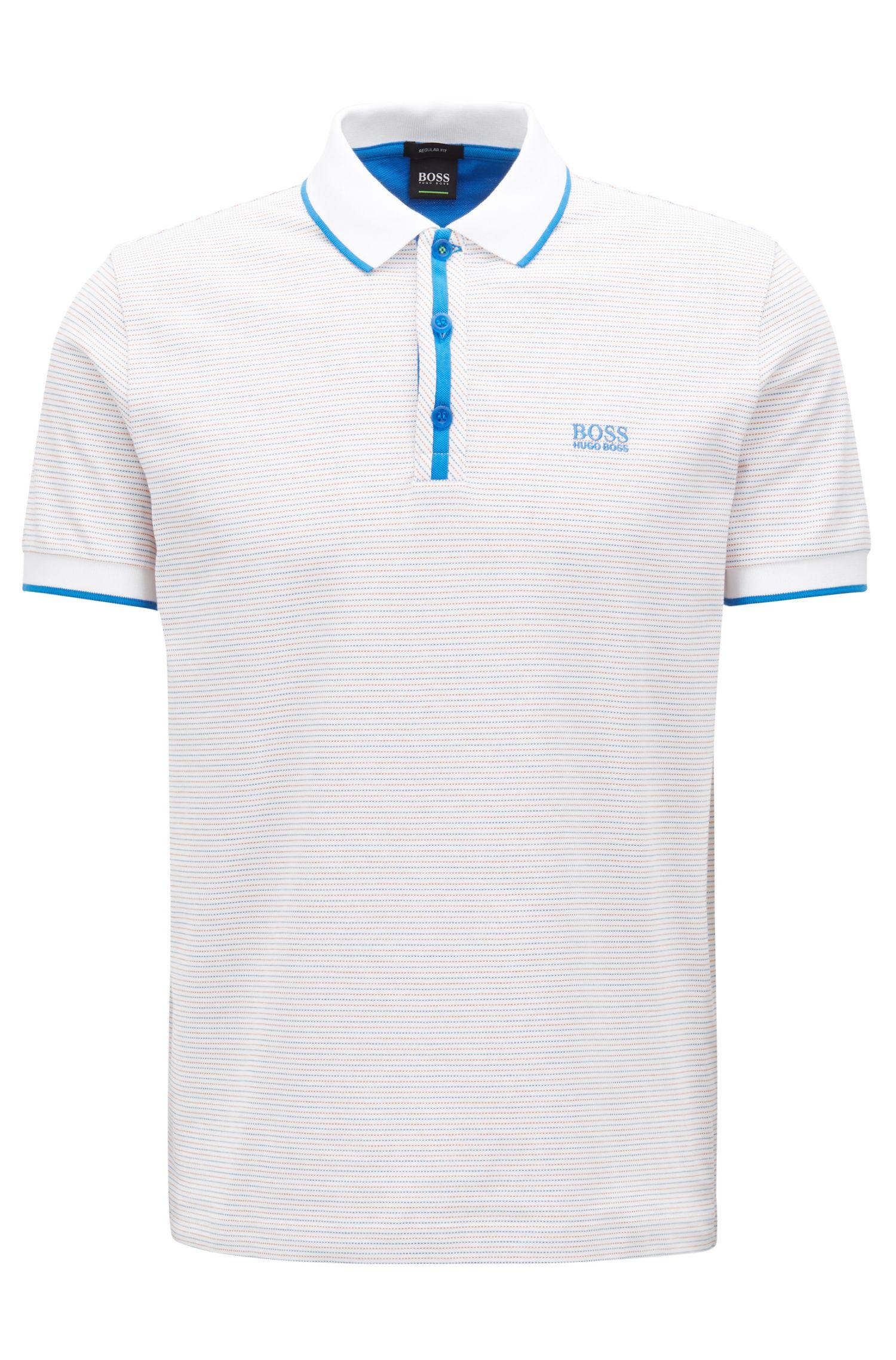 Hugo Boss - Stretch-cotton polo shirt with micro-dot jacquard - 1